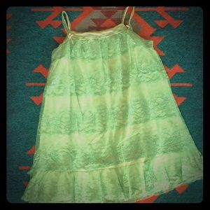 Vintage Green Lace Nightgown